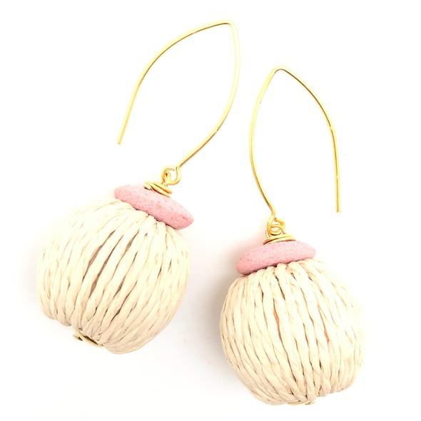 Shiver and Duke Tulum Earrings in Pink