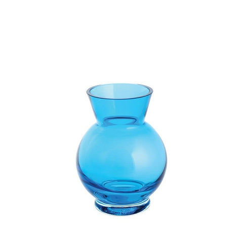 Small Blue Ball Vase