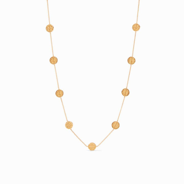 Valencia Delicate Station Necklace in Gold