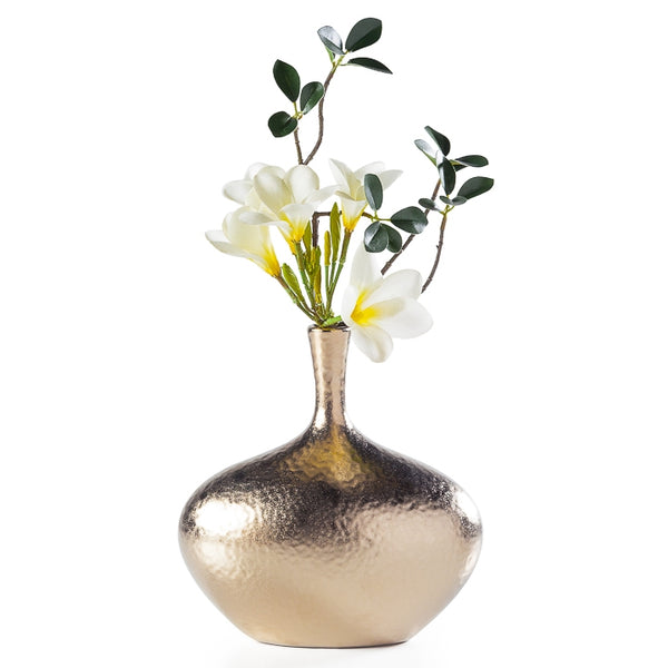 Wide Dimpled Ceramic Vase
