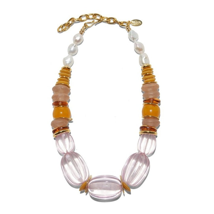 Lizzie Fortunato Villa Necklace in Rose