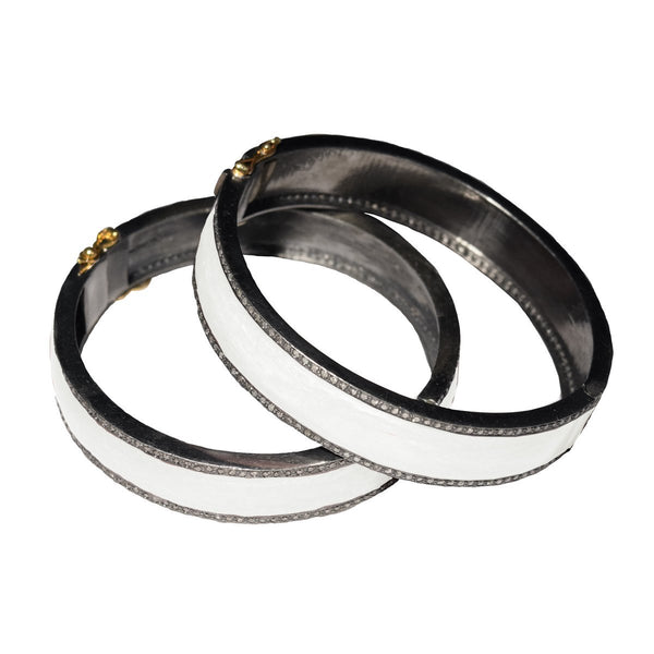 S. Carter Designs Enamel and Pave Diamond Bracelet