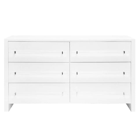 White Lacquer 6-Drawer Chest