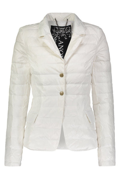 Nylon Down Blazer Jacket in White