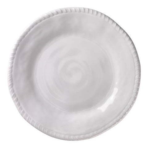 Nautical White Rope Melamine Round Serving Platter