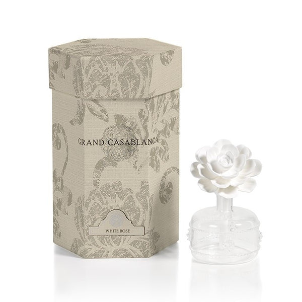 Mini Grand Casablanca Porcelain Diffuser in White Rose