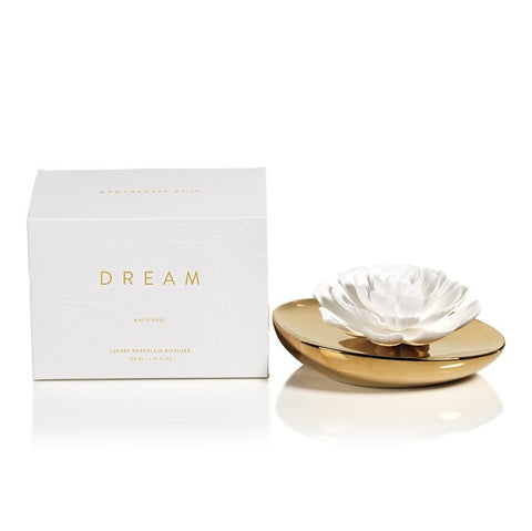 Dream Porcelain Flower Diffuser in White Rose