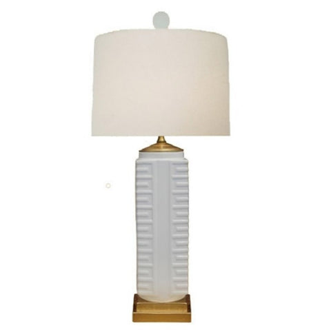 White Square Porcelain Lamp