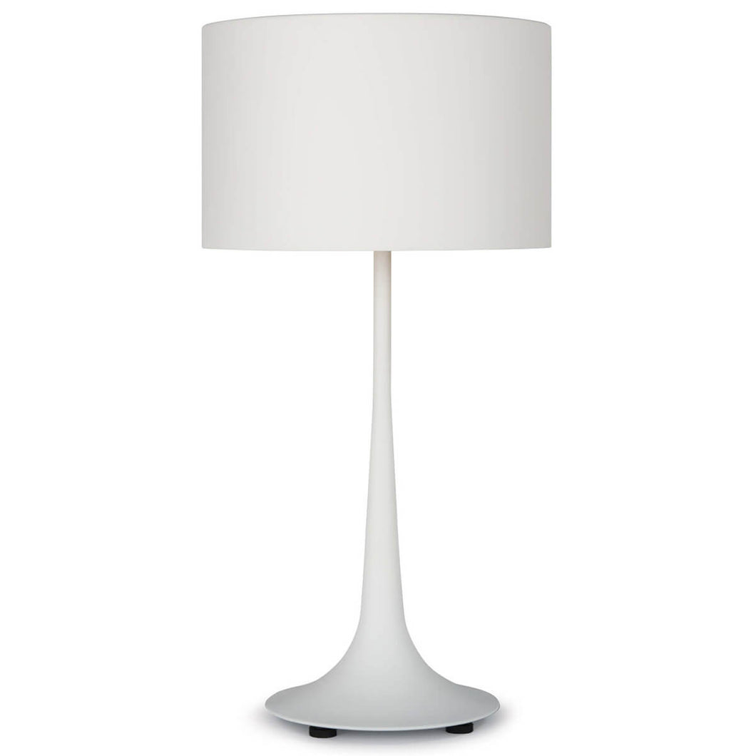 Thin White Iron Table Lamp