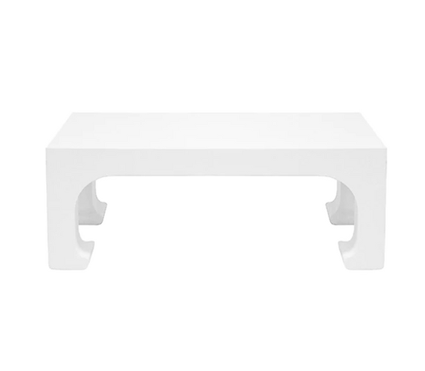 White Pagoda Style Coffee Table