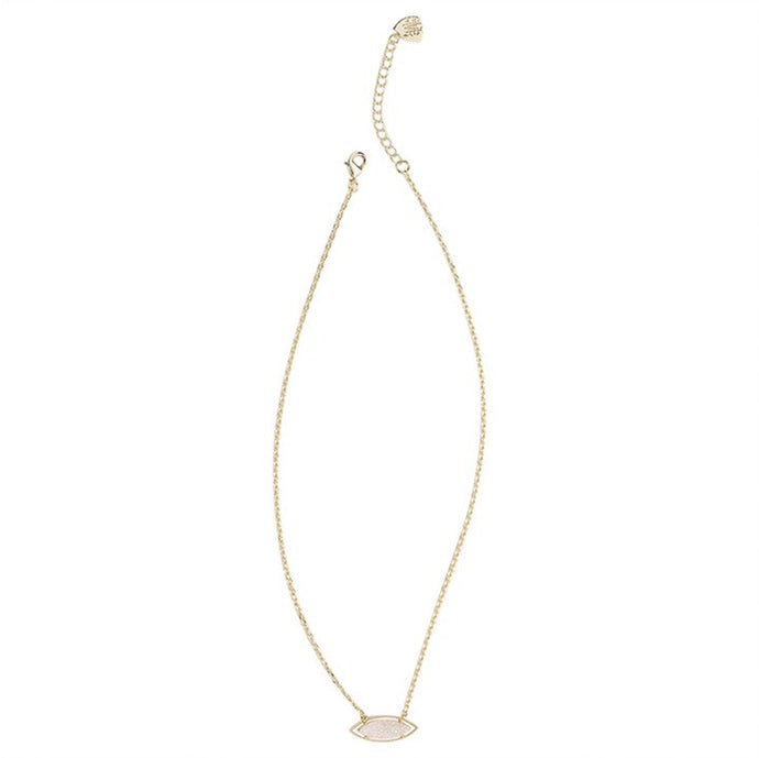 Natalie Wood Designs She's a Gem Necklace - White