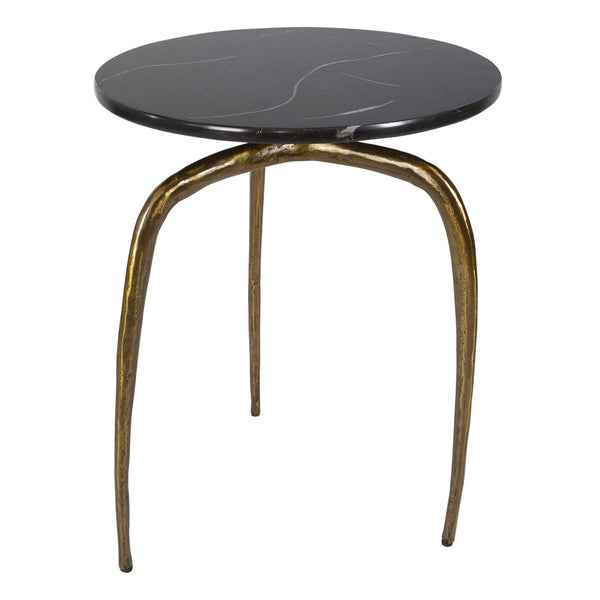 Gold Wishbone Side Table