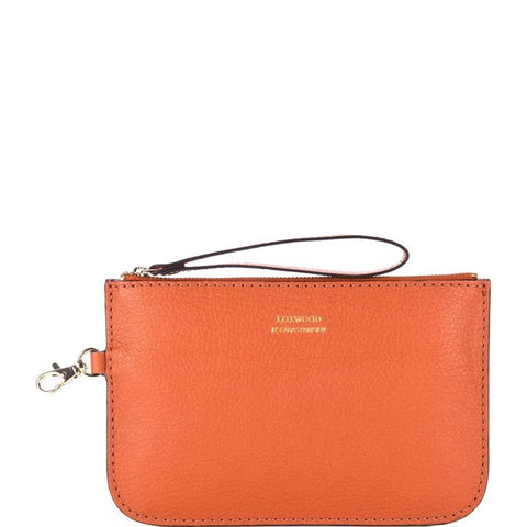 Loxwood Zip Clutch in Pumpkin