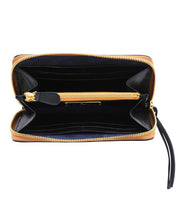 Load image into Gallery viewer, Stick & Ball Black Zip Clutch Leather Wallet