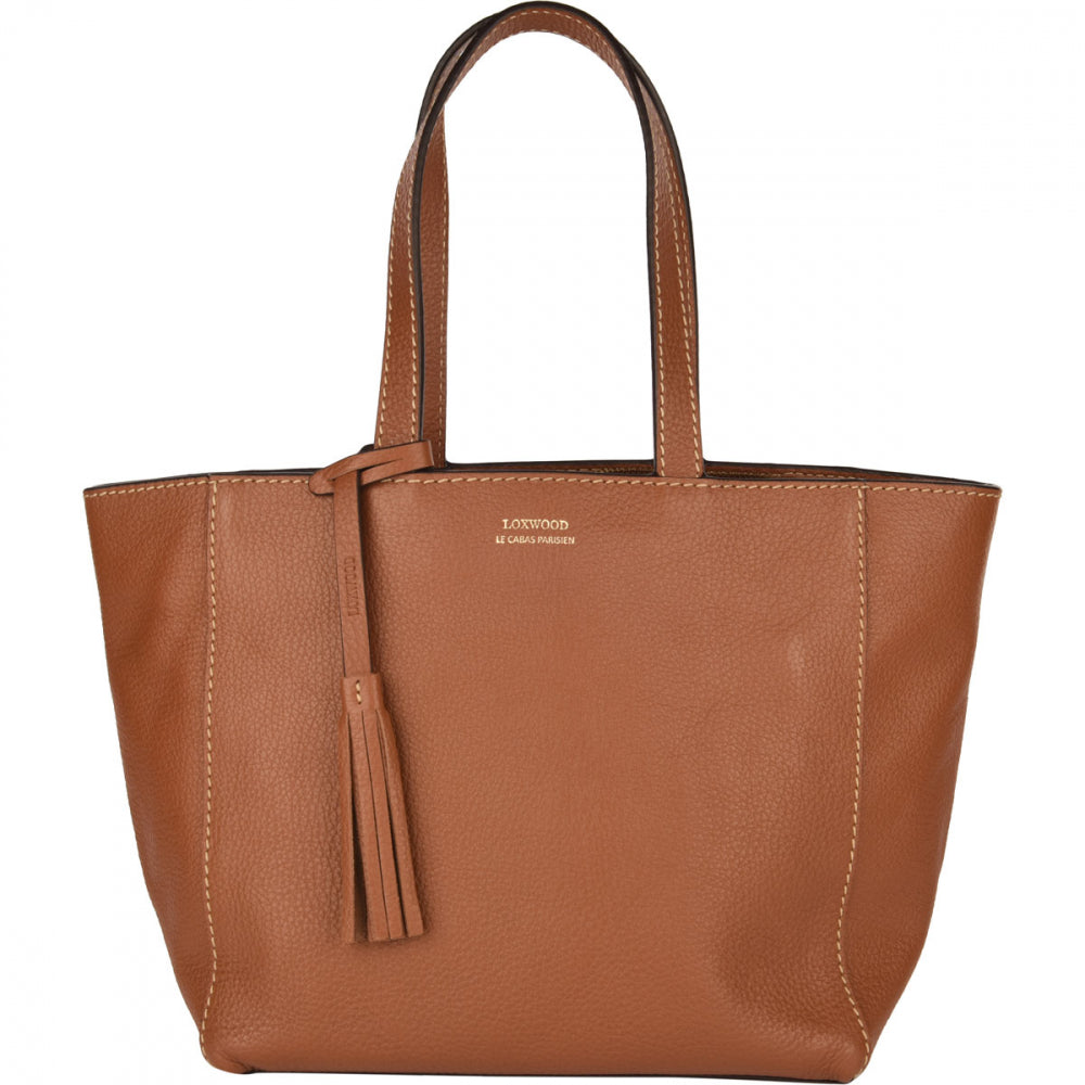 Loxwood Zippered Parisian Tote in Honey