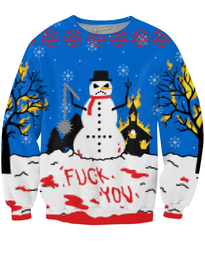 Satanic Christmas Sweater.12 Ugly X Mas Sweaters That Will Get All The Hos
