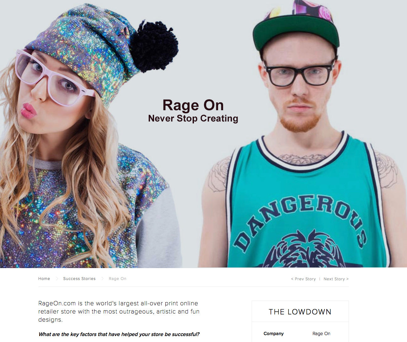 "0b95270e26 Shopify calls RageOn.com ""World's Largest All-Over-Print Online Store"""