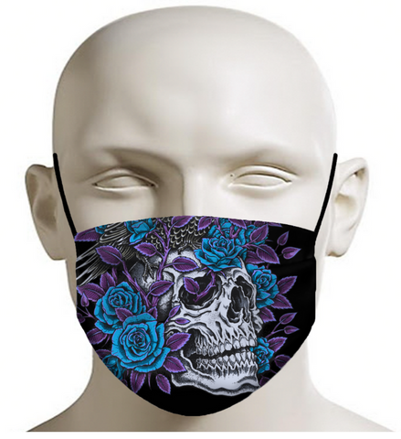 Skull and Roses Face Mask