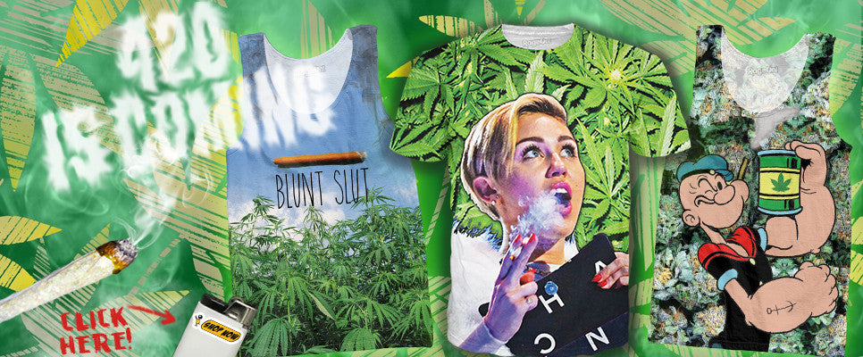 b7540c29 The brand features Pot T-Shirts, Ganja Tank Tops, and Kush themed clothing!  This fully sublimated apparel inspired by Marijuana is available now, ...