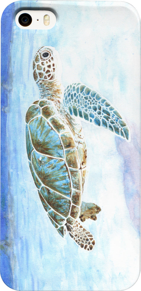 Sea turtle underwater Phone Case