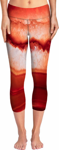 Red Agate Yoga Pants
