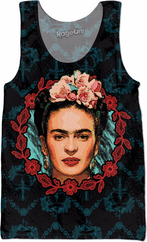 Frida Floral Frame Tank Top