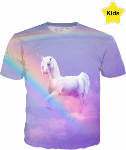 Unicorn and Rainbow Kids T-Shirt