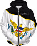 Virgin Islands Unisex Custom Flag Hoodie
