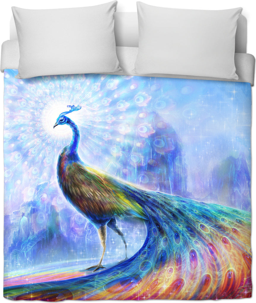 The Peacock Spectrum Duvet Cover