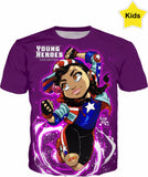 Young Heroes: Unlimited (Limited Edition Kids Shirts)- America Chavez