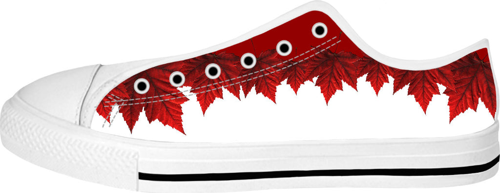 84076b068660 Canada Sneakers Canada Maple Leaf Canvas Running Shoes