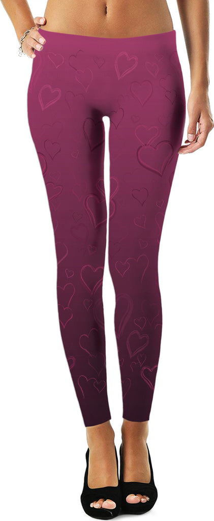 Valentines Leggings It's Complicated Purple Love