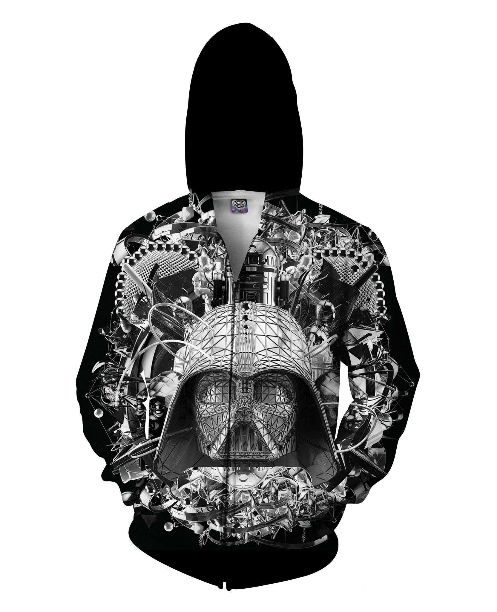 Digital Empire B&W Zip-Up Hoodie