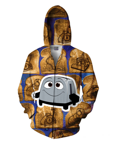 The Brave Little Toaster Zip Up Hoodie