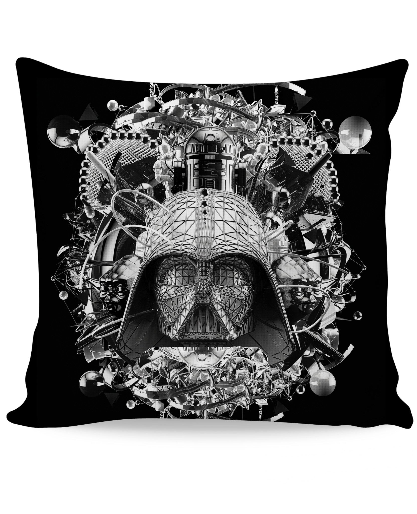 Digital Empire B&W Couch Pillow