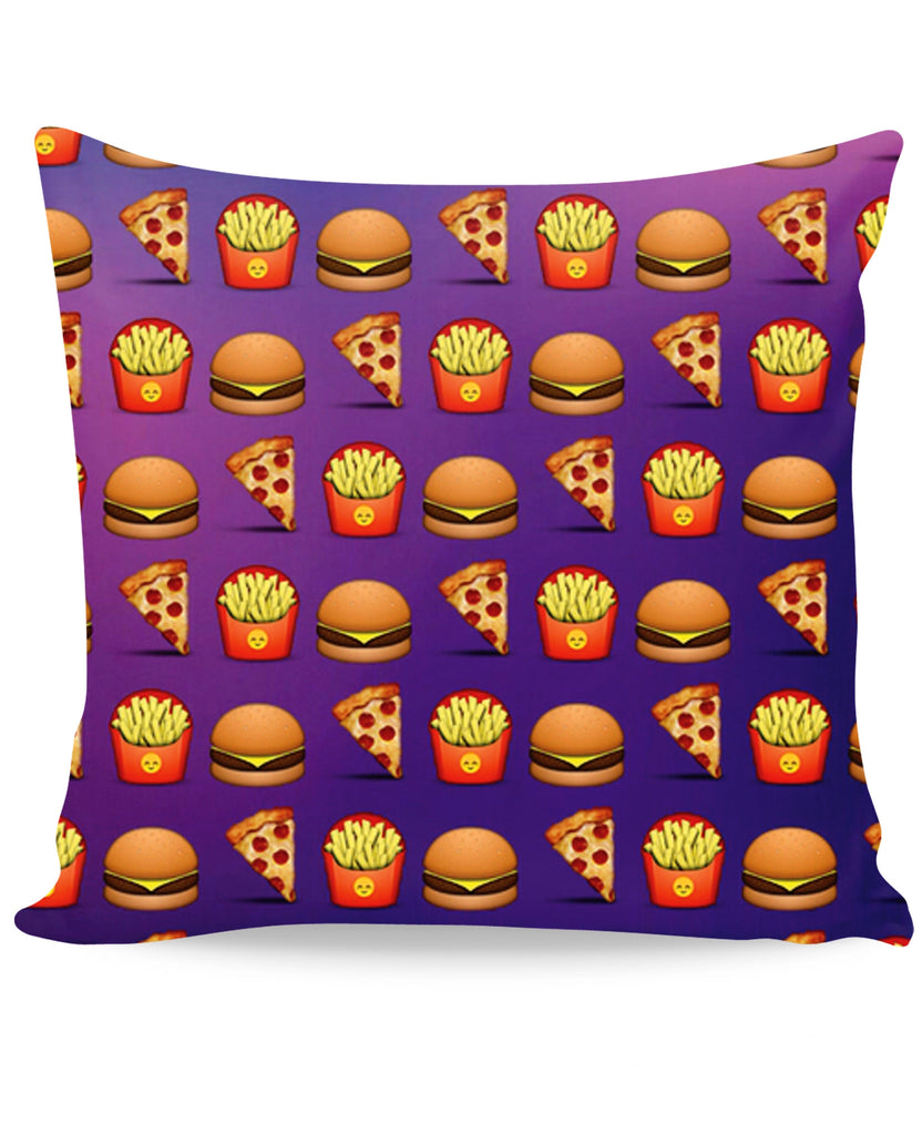 Emoji Fast Food Couch Pillow
