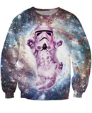 Helmet Cat Crewneck Sweatshirt *Ready to Ship*
