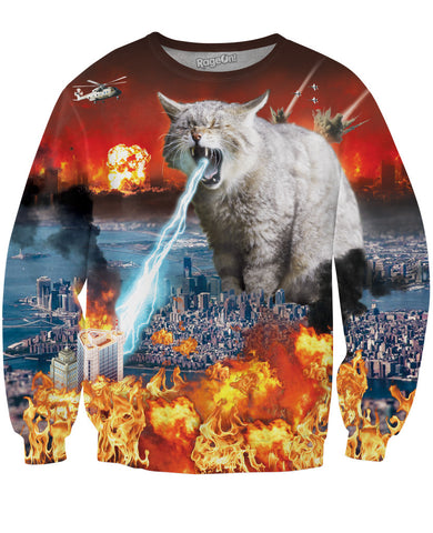 Cat-astrophe Crewneck Sweatshirt