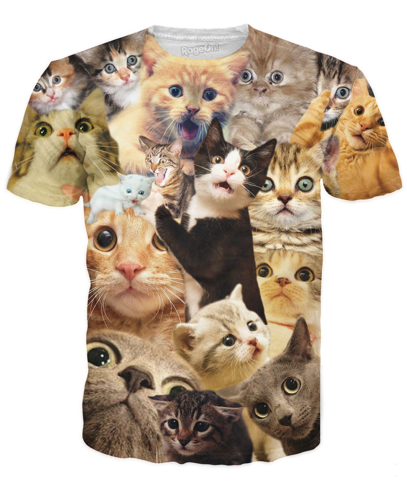 Perez Hilton Surprised Cats T-Shirt