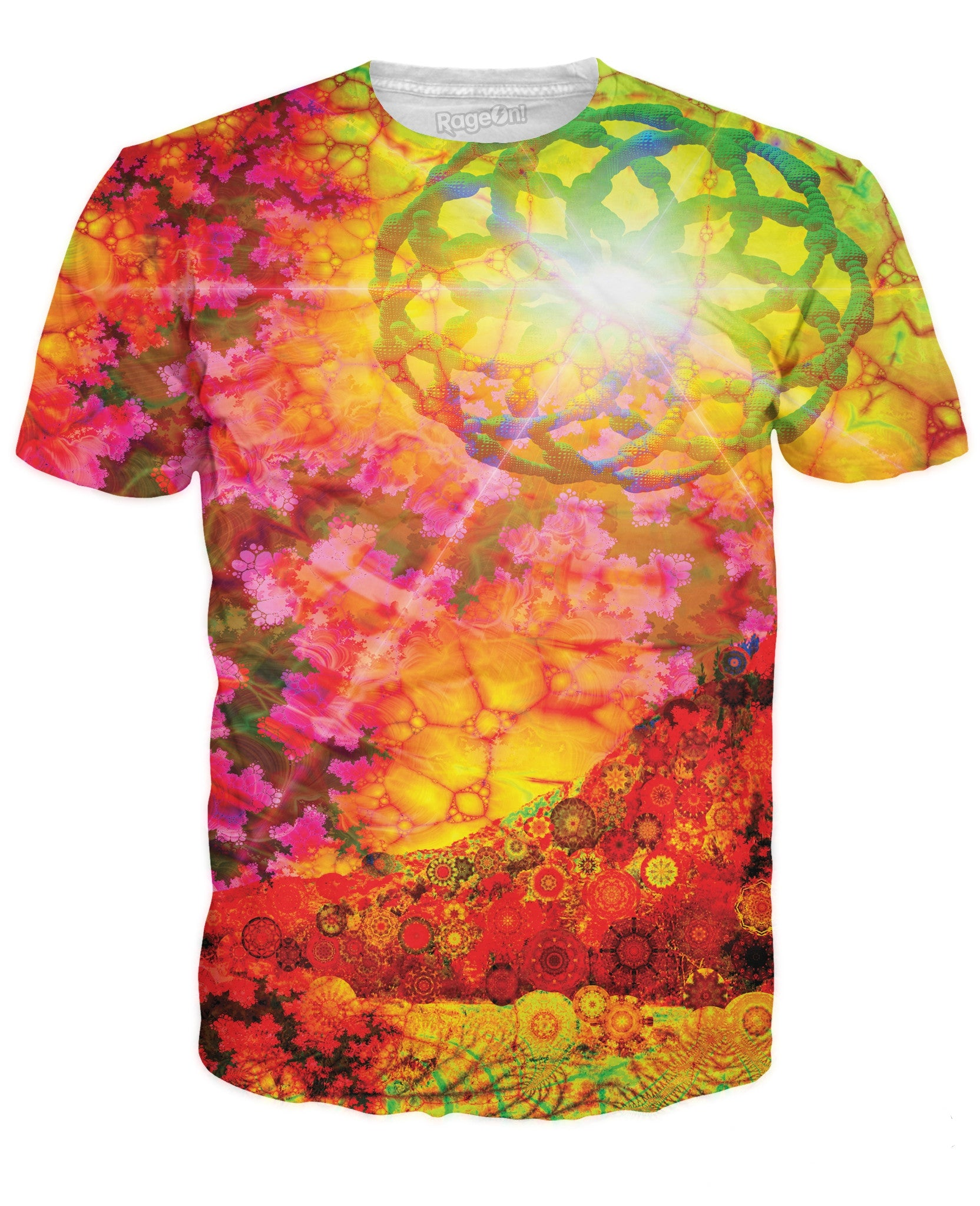 RageOn Psychedelia Light Fractal Premium All Over Print T-Shirt