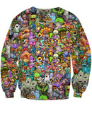 My Singing Monsters Character Collage Crewneck Sweatshirt