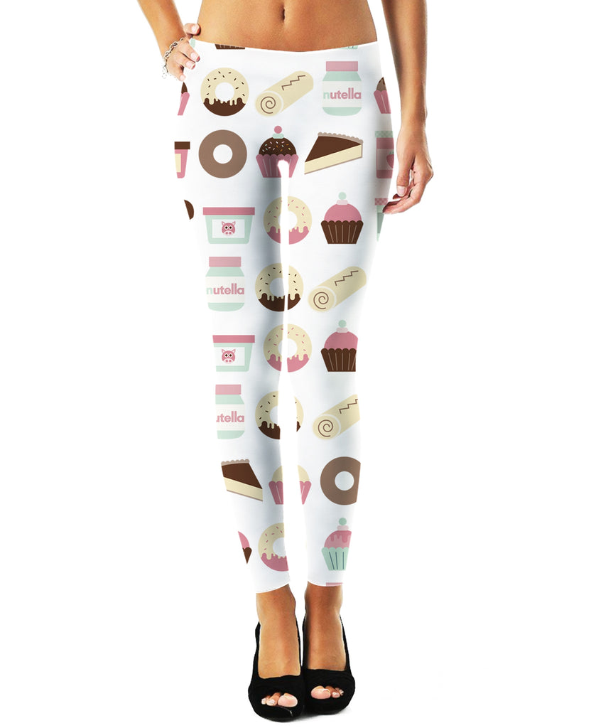 Cupcakes Pattern Leggings