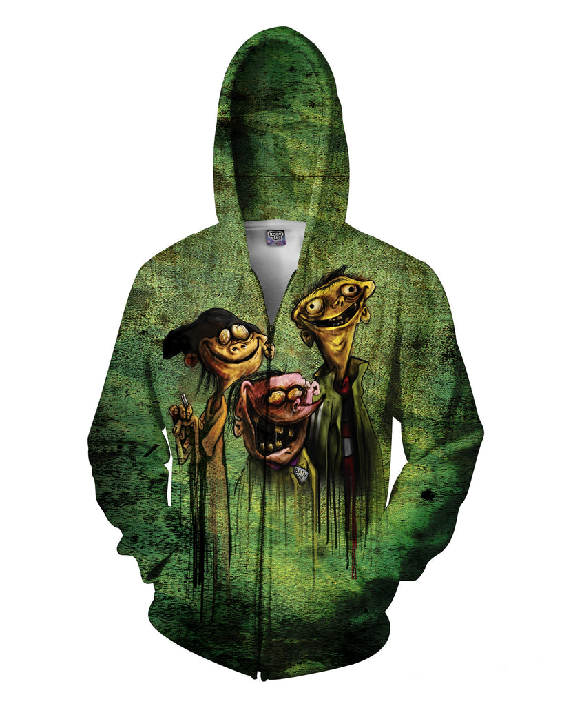 edd n eddy on bathsalts zip up hoodie