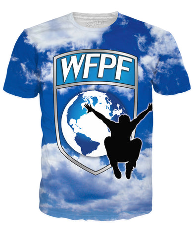 WFPF Blue Clouds Logo T-Shirt