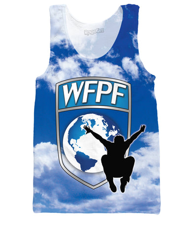 WFPF Blue Clouds Logo Tank Top