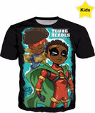 Young Heroes: Unlimited (Limited Edition Kids Shirts)- Icon & Rocket