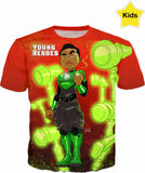 Young Heroes: Unlimited (Limited Edition Kids Shirts)- Green Lantern (John Stewart)