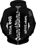 Dream BIG Create YOUrself INSPIRE others - Hooded Zip Up Sweatshirt