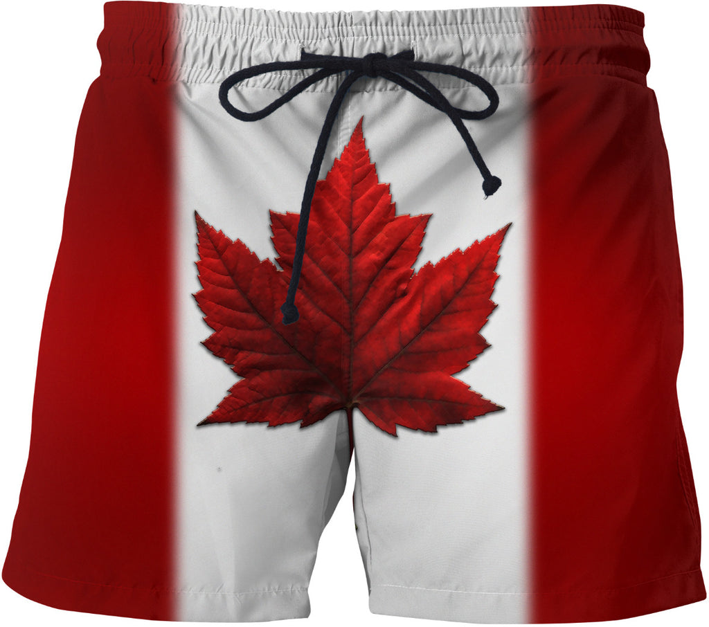 Canada Flag Shorts Canadian Souvenir Swim Trunks