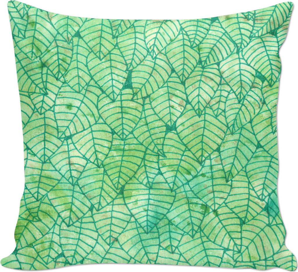Green foliage Couch Pillow